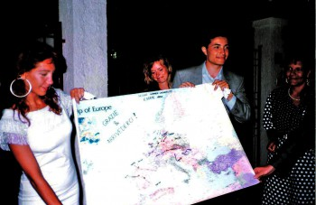 1991 Salerno SU Thanks Map of Europe