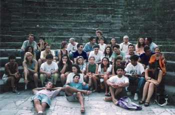 1992 Salerno SU Amphitheater of Pompeii with Guide