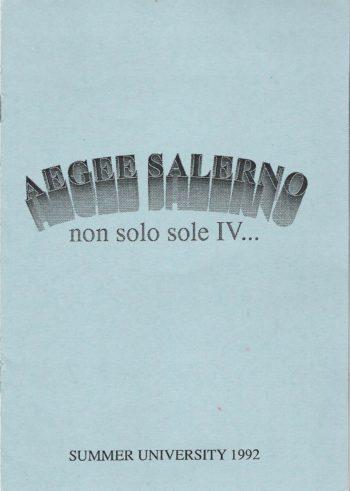 1992 Salerno SU Booklet IV