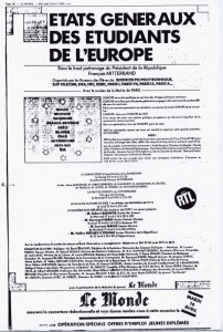 Advert in Le Monde for EGEE I