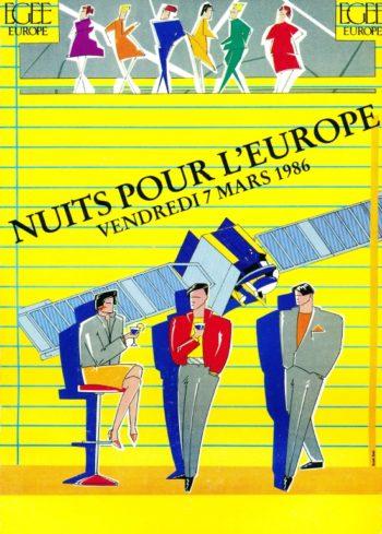 1986 Nuits de l'Europe Poster