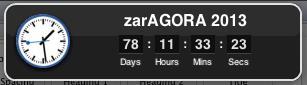 Agora Zaragoza chemas clock