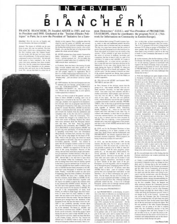 Franck biancheri Interview 1990