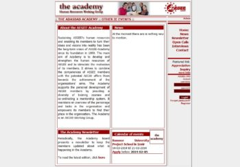 Old Academy website