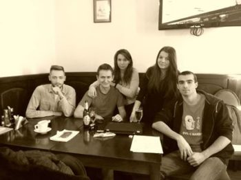 Organizing Team - left-right Florin, Vali, Ana, Vio, Cristi