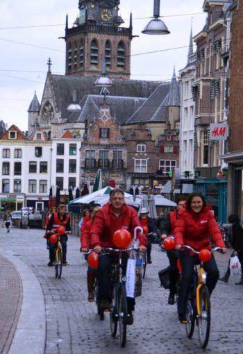 Kati Piri on bike