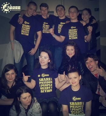 T-shirt of AEGEE-Warszawa