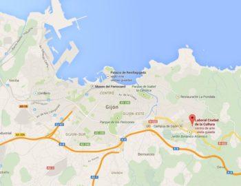 Agora Gijon map