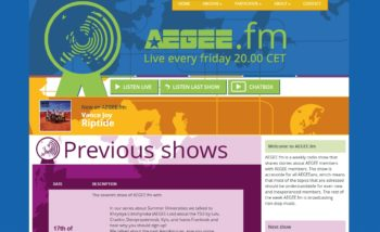 Aegee.fm website