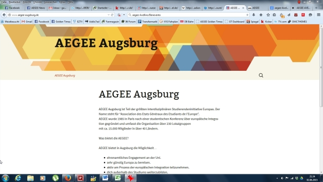 Augsburg website