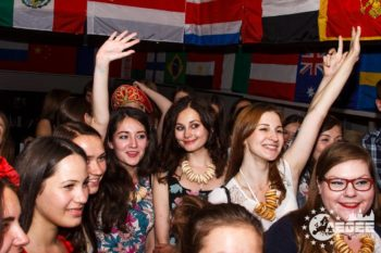 Russians at european party