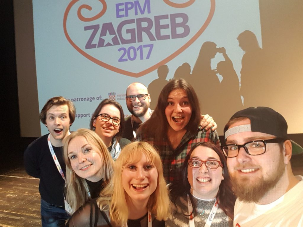 Dominic was helper at the EPM Zagreb 2017.